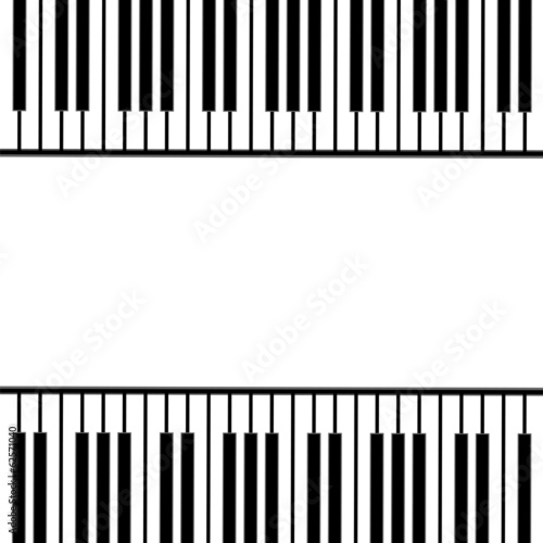piano keys on a white background .musical design.vector