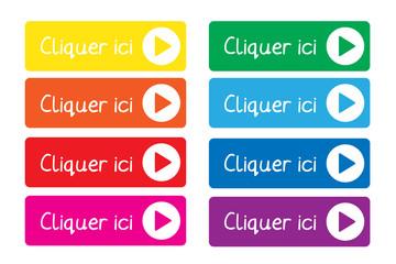 """Boutons Web """"CLIQUER ICI"""" (se connecter cliquez connexion ok go)"""