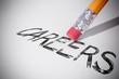 Pencil erasing the word Careers