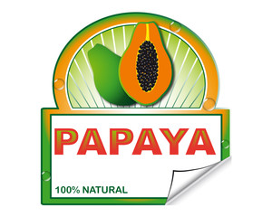 Papaya's label for marketplace