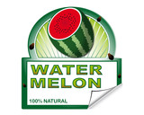 Watermelon's label for marketplace