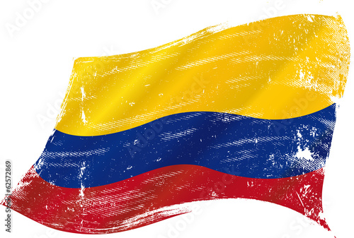 Colombian grunge flag