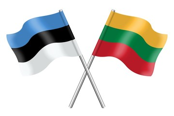 Flags : Estonia and Lithuania