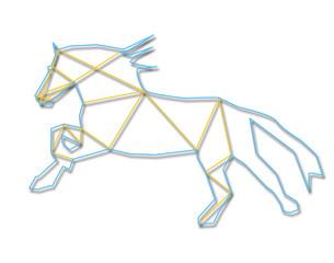 Line art horse
