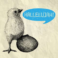HALLELUJAH - Happy Easter card