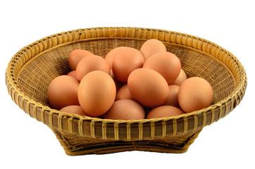 Egges on Thai wooden basket