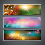 Abstract bokeh collections background