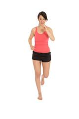 Junge Frau beim Laufen