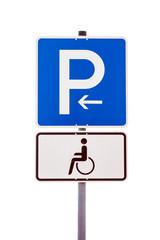 Verkehrsschild - Behindertenparkplatz