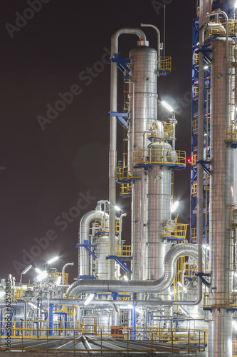 Night scene of Refinery plant