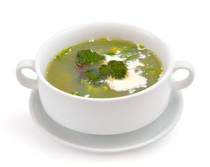 Nettle and sour cream soup.