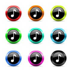 music icon vector set