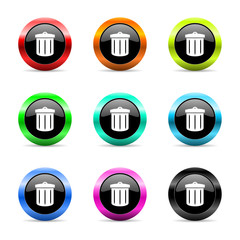 recycle icon vector set
