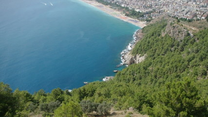 View of the city from fortress. Alanya. Turkey.