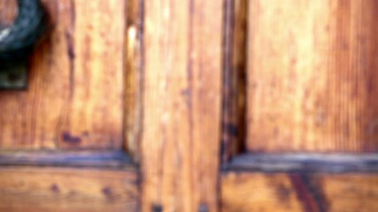 Old door opens