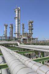 Oil and chemical refinery factory