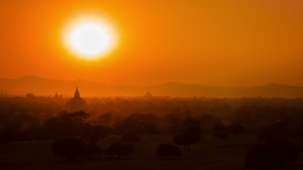 Sunset in Bagan. Myanmar