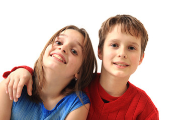 twins (brother and sister) portrait