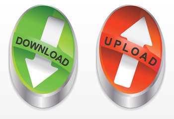 Download button green and red