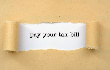 Pay your tax bill