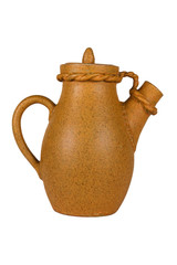 Ceramic coffee carafe (isolated object).