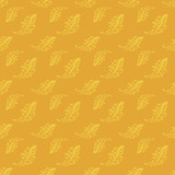 Yellow vintage seamless floral pattern