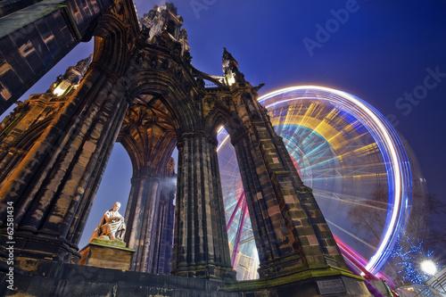Fotobehang Historisch mon. Edinburgh, Scott monument