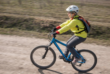 cyclist in motion