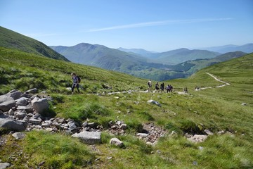 Path to the Ben Nevis summit