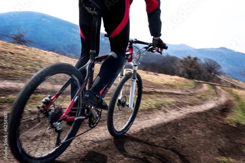 fototapeta na ścianę rowerzysta w ruchu