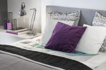 Modern bedroom detail interior design