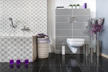 Modern bathroom with WC