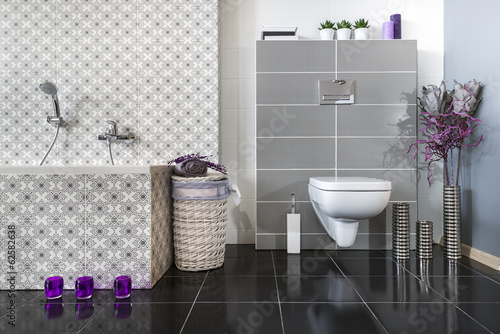 Modern bathroom with WC