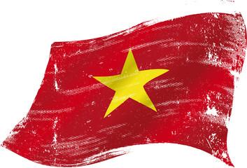 Vietnamese grunge flag