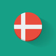 Round icon with flag of Denmark