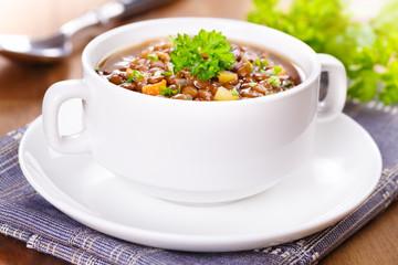 lentil soup - Linsensuppe