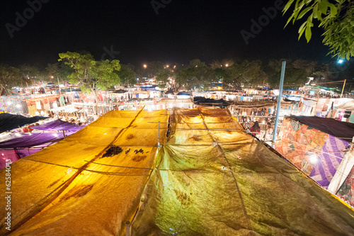 Image of Ingo`s food market in Goa, India at night