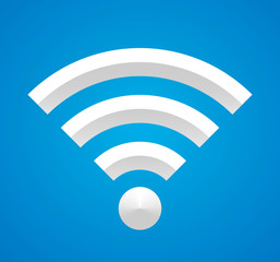 Wi-Fi on blue.
