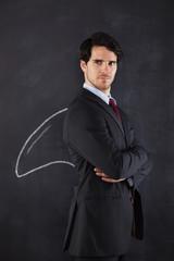 Businessman with a shark fin