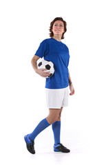 Soccer player woman