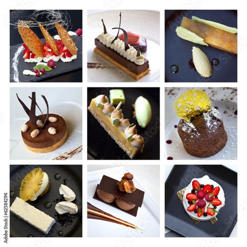 Naklejka Desserts et pâtisseries