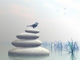 Bird peace - 3D render