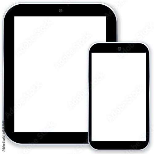 Tablet pc computer and smartphone