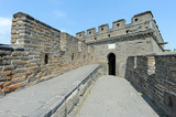Tower of the Great wall of China with blue sky