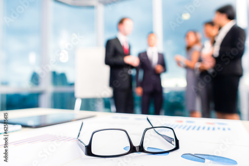 canvas print picture Glasses on office desk