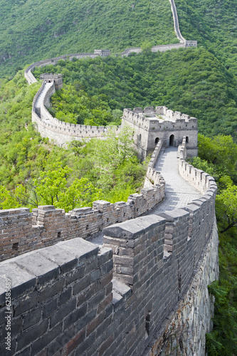 Staande foto Chinese Muur Great Wall of China in Summer