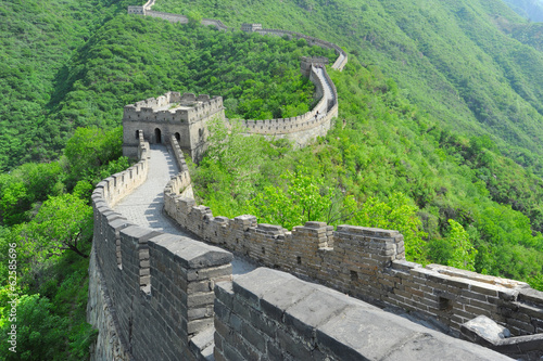 Tuinposter Chinese Muur Great Wall of China in Summer