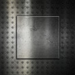 Studded metal background