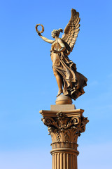 Golden Angel in front of House of Artists, Prague