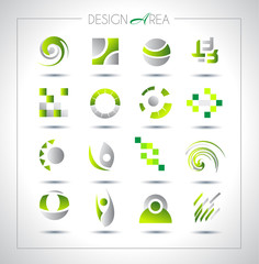 Set of design elements for your project. Mixed abstract